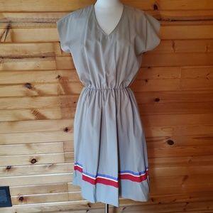 1960s David Warren Tan, Cotton Blend Dress